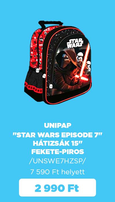 """Őszi készletkisöprés - Unipap """"Star Wars Episode 7"""" hátizsák 15"""""""