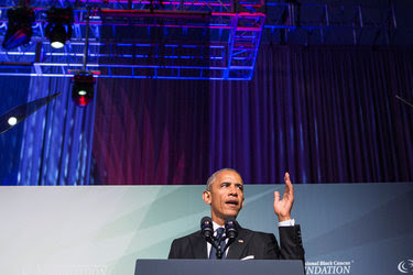 President Obama spoke on Saturday at the Congressional Black Caucus Foundation gala dinner in Washington.