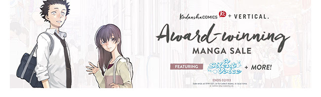 Kodansha Award Winning Sale: up to 50% off! | Ends 2/3