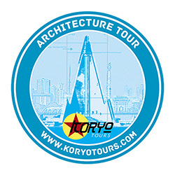 Architecture Tour Logo - Blue print