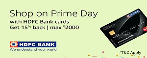 Get 15% casback with HDFC Bank cards