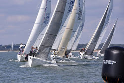 J/80 sailing UK Nationals- Solent course