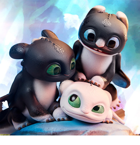 How to Train Your Dragon: The Hidden World Dart, Pouncer, and Ruffrunner Statue