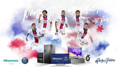 A Hisense anunciou uma parceria global com o Paris Saint-Germain