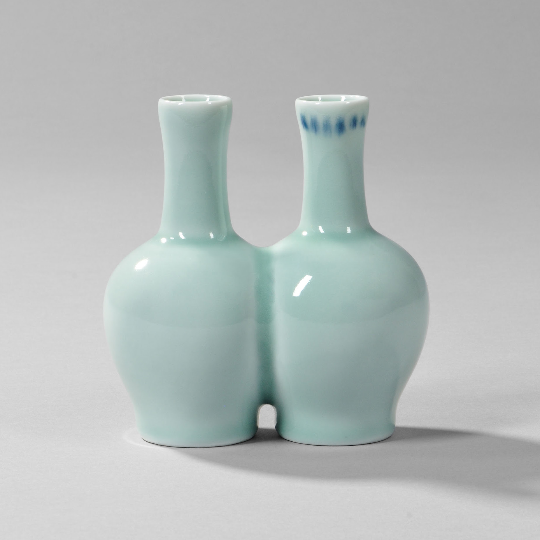 Celadon-glazed Double-bottle Vase, China, 18th century (Lot 127, Estimate $8,000-10,000)