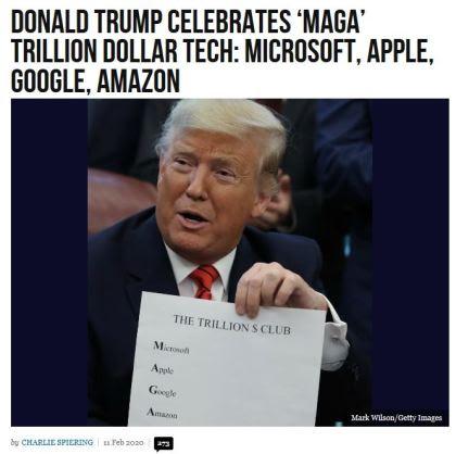 maga trump microsoft apple google amazon