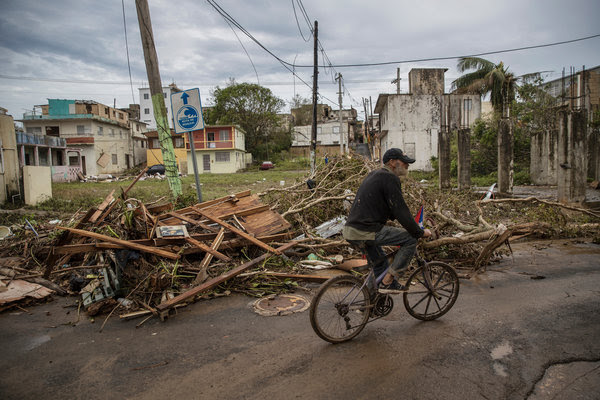 Some of the damage left by Hurricane Maria in Arecibo, P.R. Hospitals in Puerto Rico are suffering from shortages of water, power and supplies in the wake of the storm.