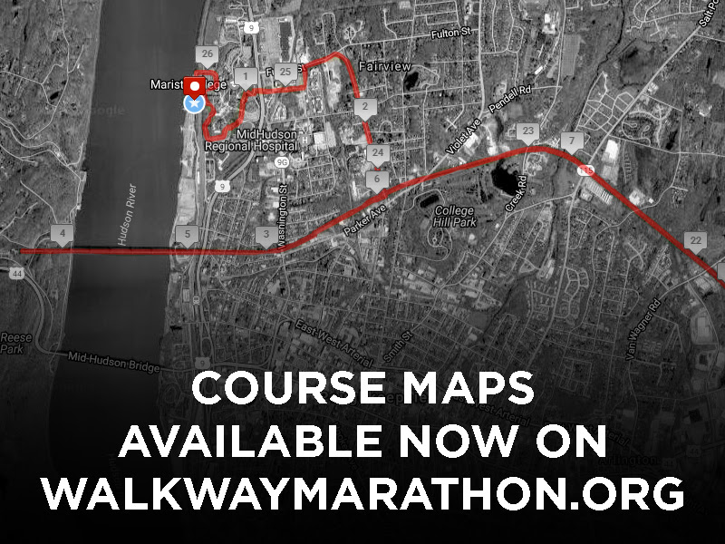 Course Maps for the 2017 Walkway Marathon Race Series are Now Available at WalkwayMarathon.org