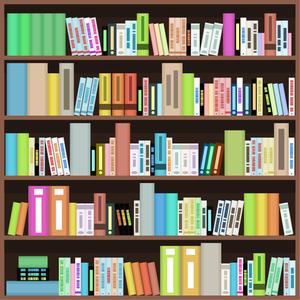 PubMed, Library book shelves