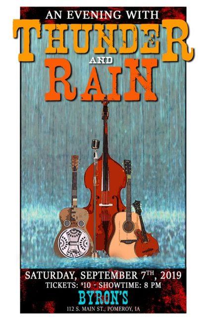 thunder and rain poster