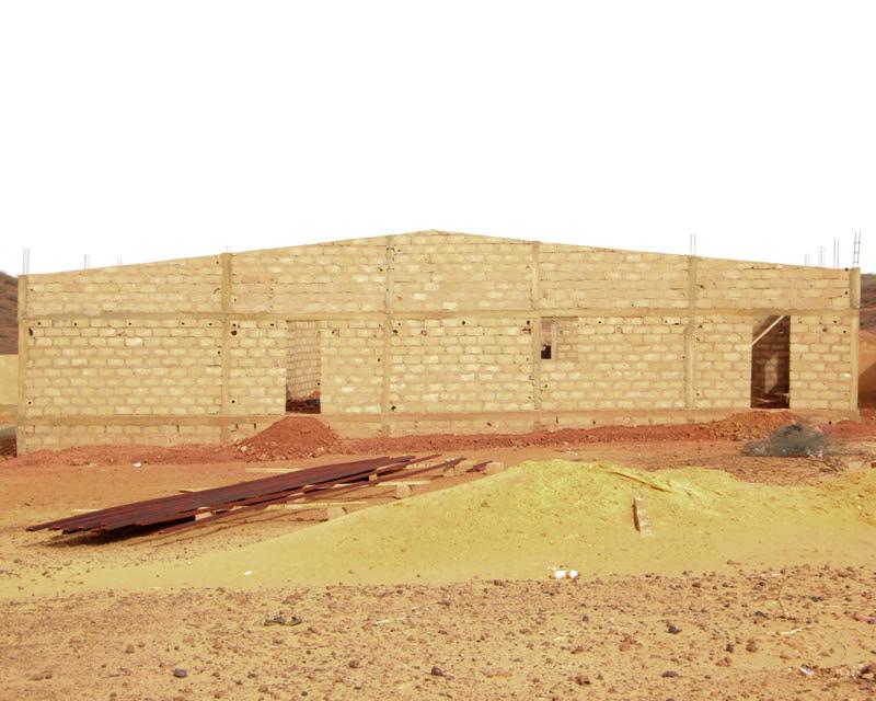 건축 중인 치미직업교육센터 건물