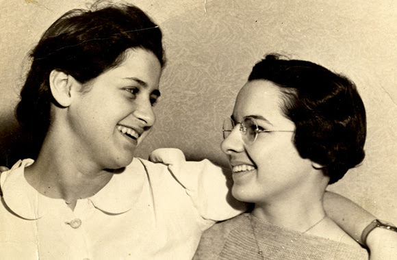Austrian Marianne Winter (left) and American Jane Bomberger were pen pals when Winter asked Bomberger to help her family immigrate to the United States.