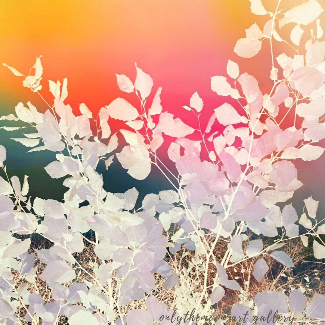 Rainbow sky leafy abstract By onlythemoon