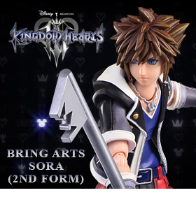 KINGDOM HEARTS III BRING ARTS SORA (2ND FORM) EXCLUSIVE