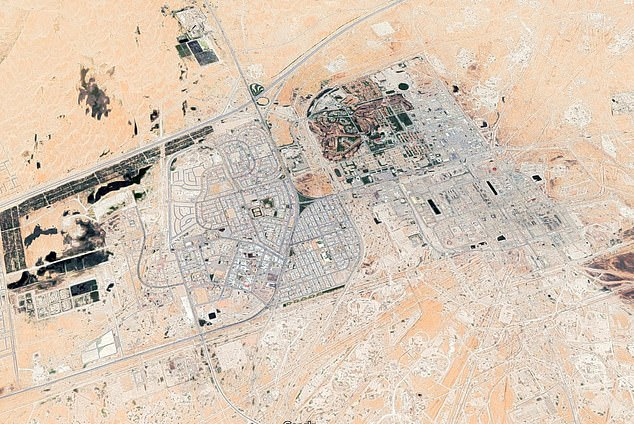 There was no immediate claim of responsibility for the attacks on Abqaiq and Khurais, two major Aramco facilities in eastern Saudi Arabia , but it follows a spike in regional tensions with Iran (pictured: Abqaiq)