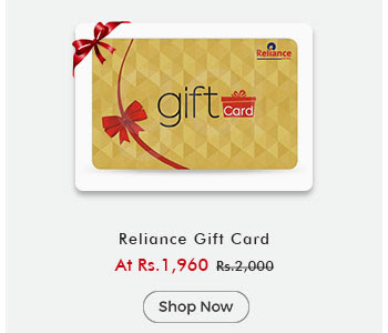 Reliance Gift Card By ShopClues @ Rs.1,960