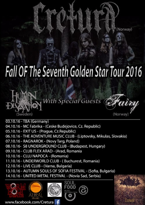 "CRETURA,"" FALL OF THE SEVENTH GOLDEN STAR"" Tour 2016"