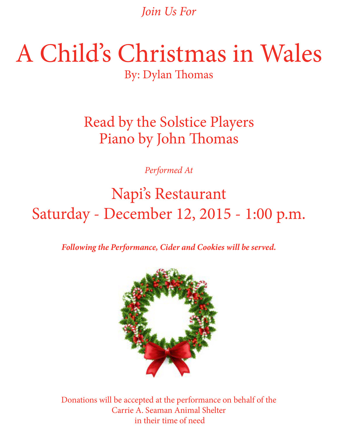 A Child s Christmas In Wales 12.12.15