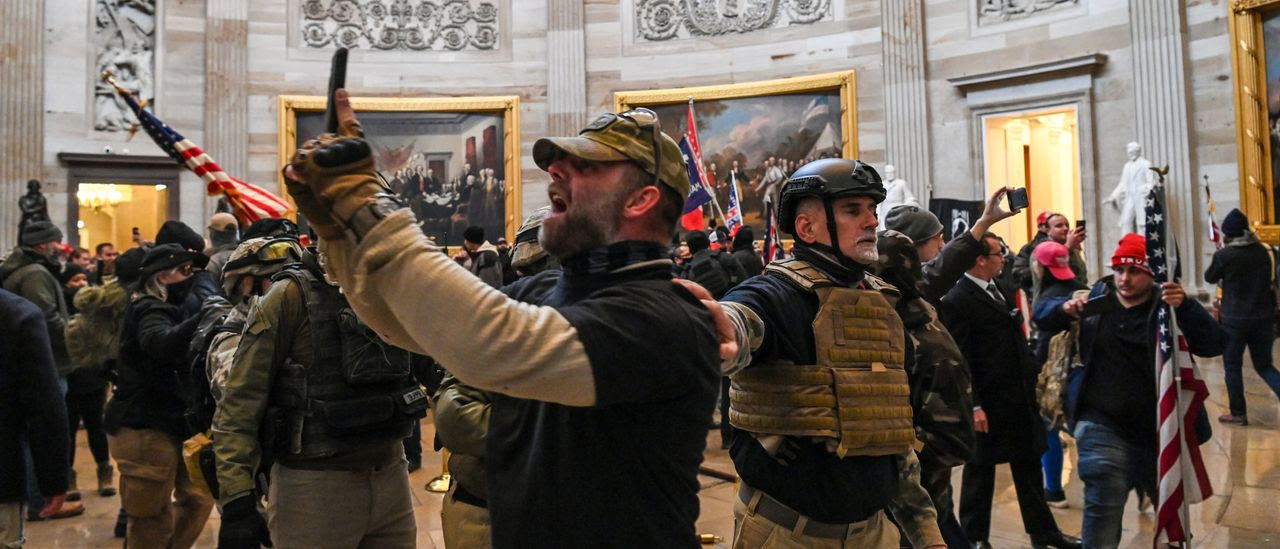 Rioters inside the Capitol