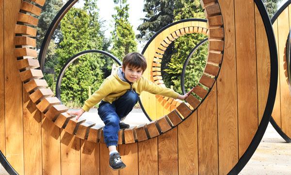 Image of a boy in the Sun Garden