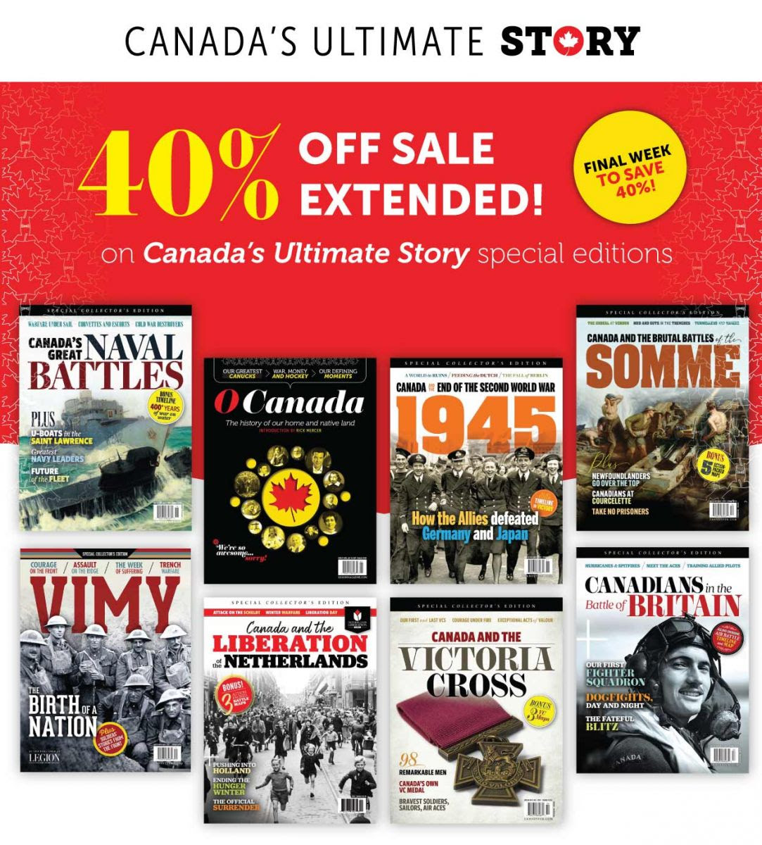 40% sale extended!