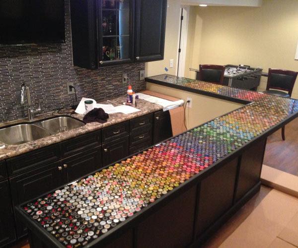 Bottlecap Counter Top