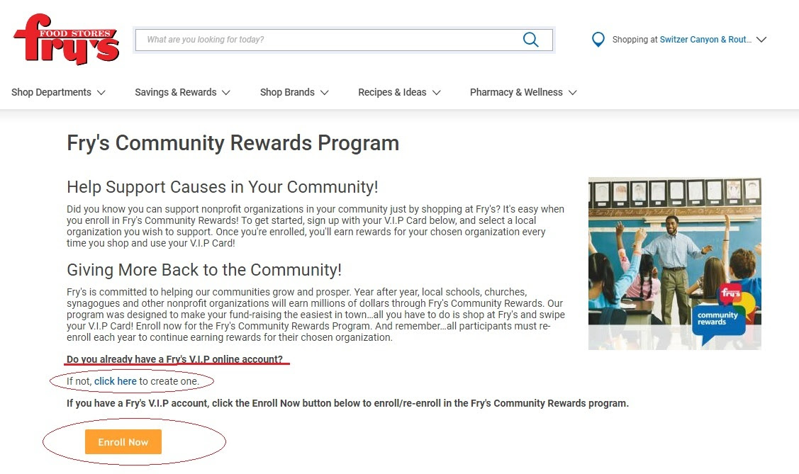 Community Rewards sign up pic