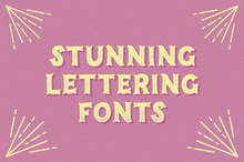 30 Stunning Lettering Fonts That Nail The Hand-Drawn Look