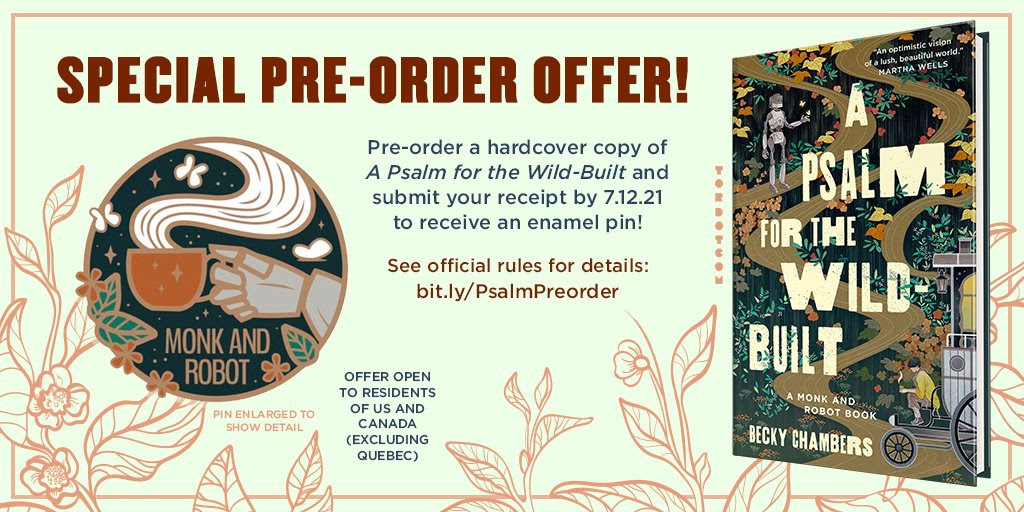 FREE Enamel Pin for A PSALM FOR THE WILD BUILT