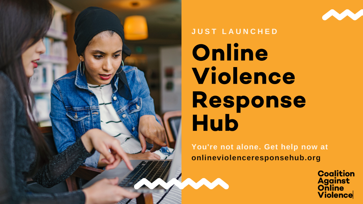 The IWMF's Coalition Against Online Violence is home to many resources to aid victims of online violence, the Online Violence Response Hub being the newest addition. (Image credit: IWMF)