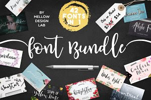 42 FONTS BUNDLE • 98% OFF