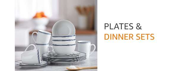 Dinnerware & plate sets from AmazonBasics
