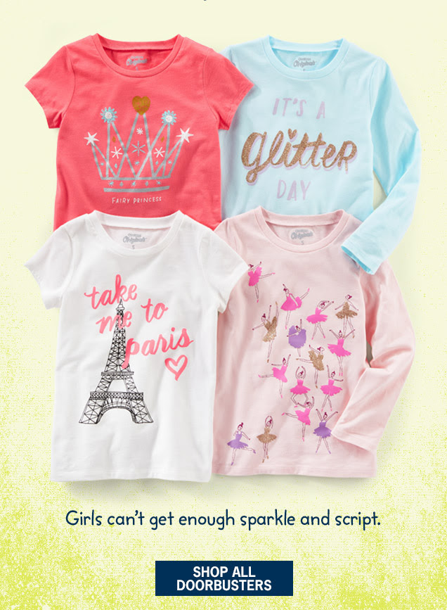Girls can`t get enough sparkle and script. Shop All Doorbusters
