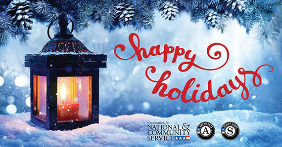 Happy Holidays from the Corporation for National and Community Service