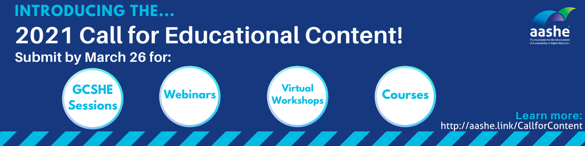 Call  for educational content, blue graphic