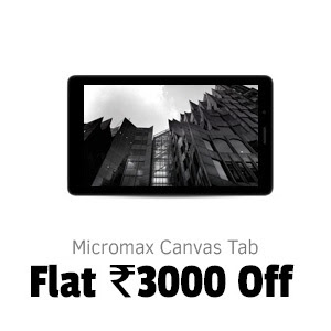 Micromax Canvas Tab at Flat Rs.3,000 Off