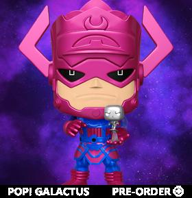 Pop! Marvel: Fantastic Four - Galactus w/ Silver Surfer (Metallic Ver.) PX Previews Exclusive