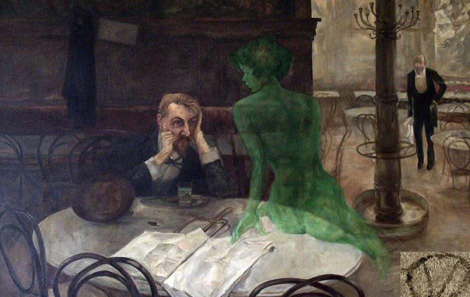 Viktor Oliva -The Absinthe Drinker