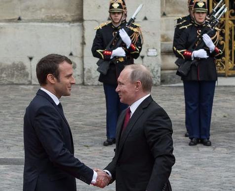 Macron et Poutine à Versailles