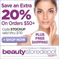 20% Off over $50 and Free Shipping, code STOCKUP