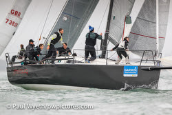 J/111 sailing Hamble Winter Series, England