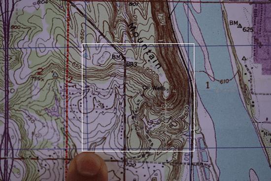 topo topographic map grid square