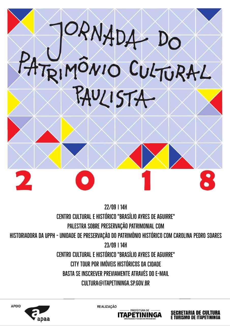 Jornada do Patrimônio Cultural Paulista em Itapetininga