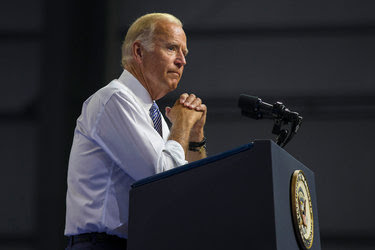 Vice President Joseph R. Biden Jr. during a campaign rally for Hillary Clinton in Scranton, Pa., last month. Among the hacked material released online were PowerPoint presentations showing step-by-step directions for where he and other officials should walk when they arrived at events.
