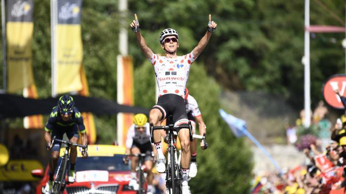VIDEO. Tour de France : Warren Barguil offre à la France sa 4e victoire d'étape le 14-Juillet