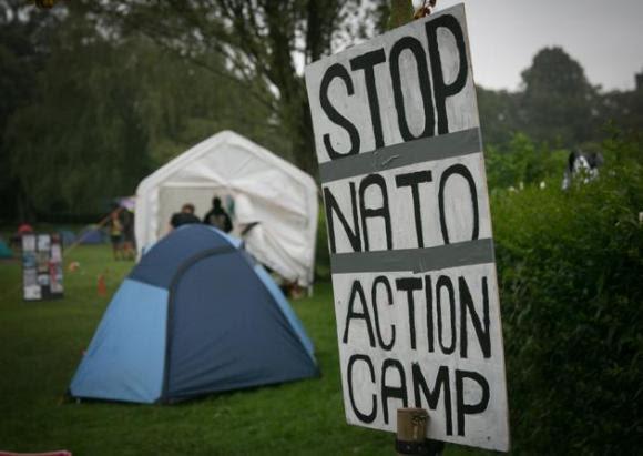 Protestas contra la cumbre de la OTAN en Gales 8