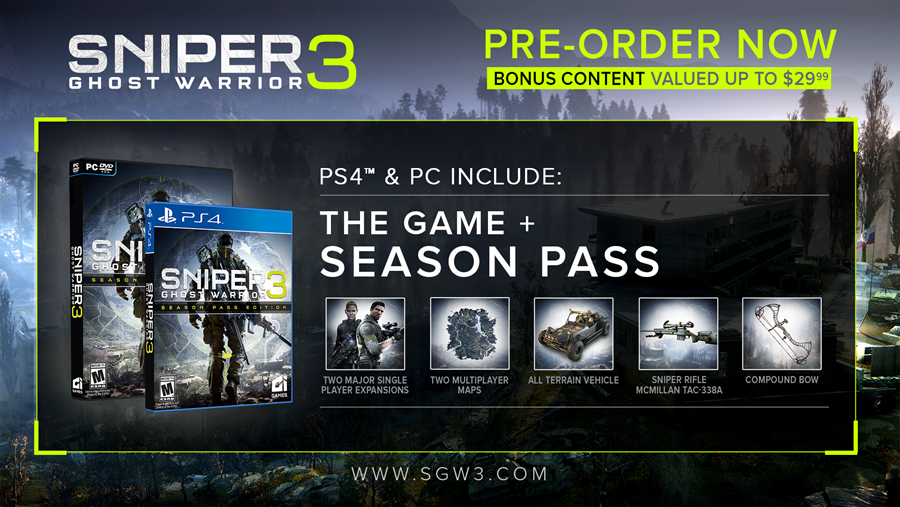 SGW3 PS4 & PC Season Pass Details