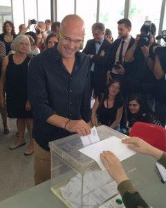 El candidato de Junts pel Sí, Raül Romeva