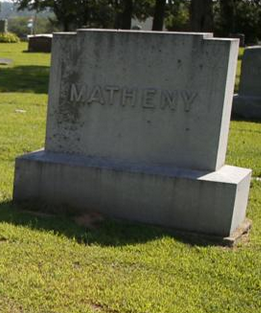 Matheny headstone