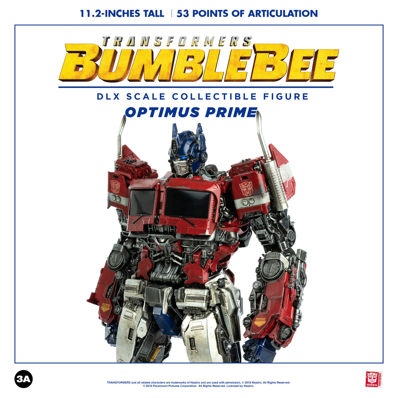 ThreeA - Bumblebee Movie: DLX Optimus Prime